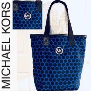 MICHAEL KORS Nylon Polka Dot Blue Black To…